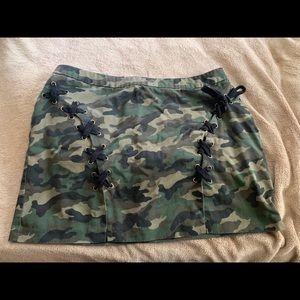Forever21+ Mini Camo Skirt